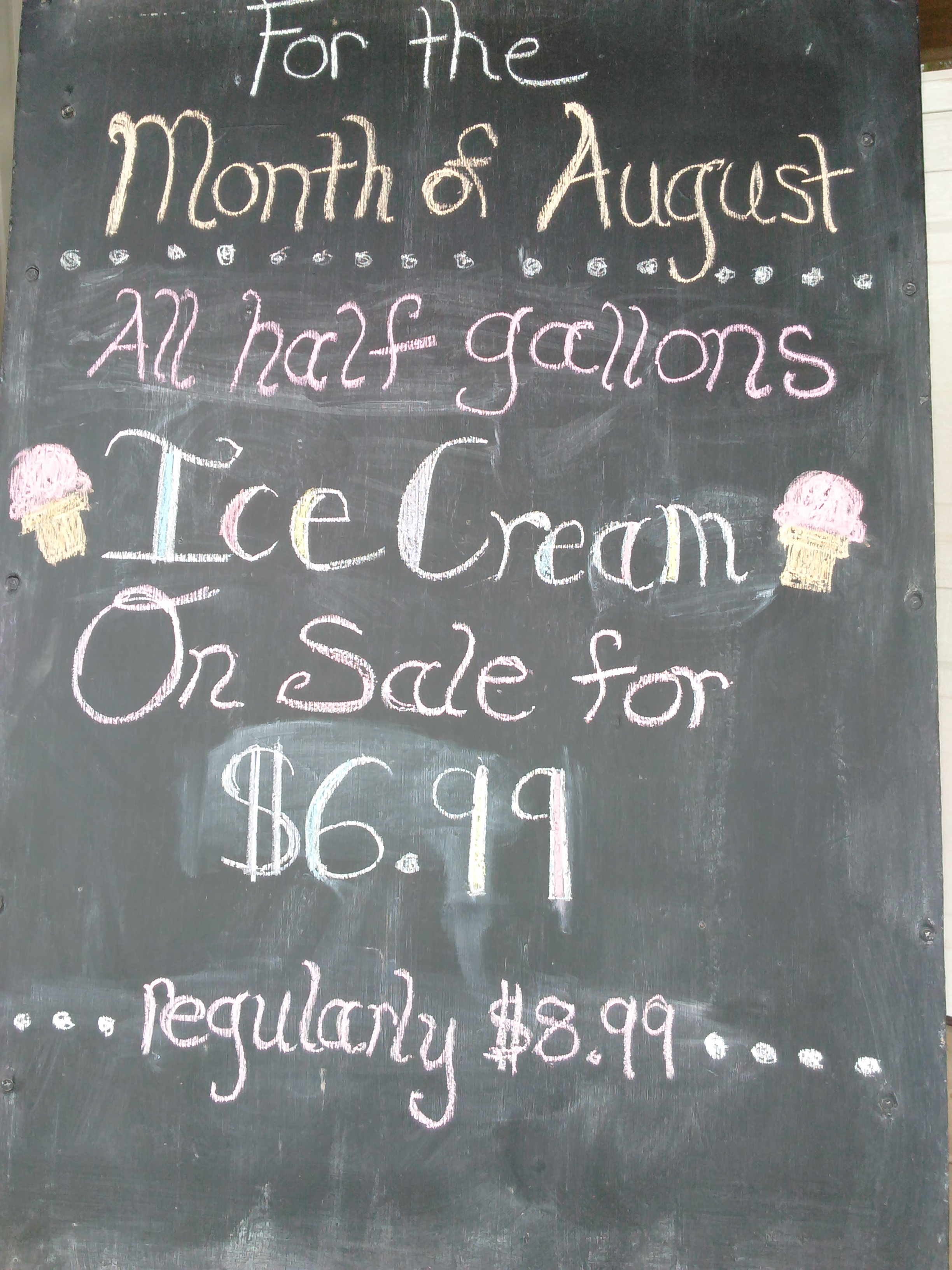 Half Gallons of Ice Cream on Sale!!