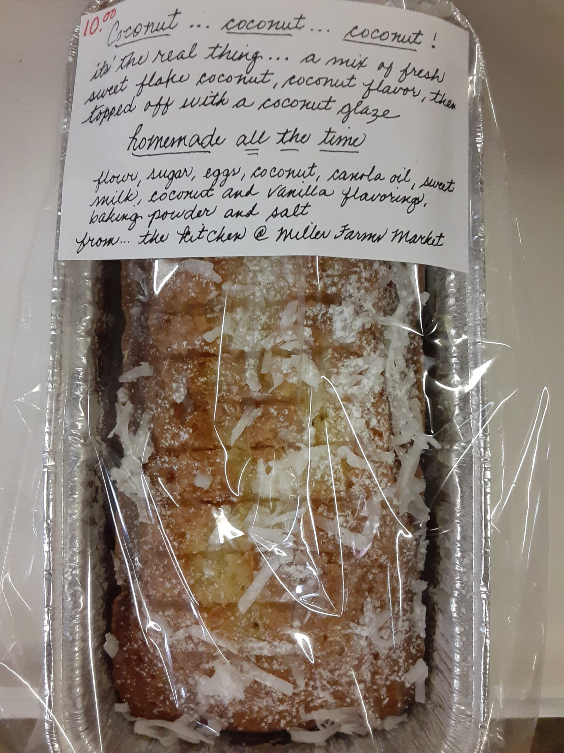 Have you tried JoJo's Sweet Breads? Which one is your favorite? Mr. Ben's is the Coconut Coconut Coconut.